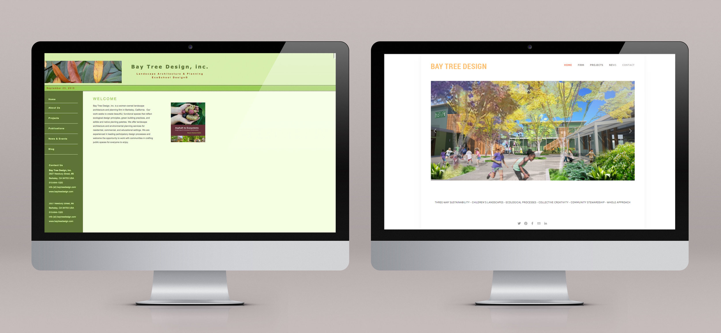 Bay Tree Design Before and After Website