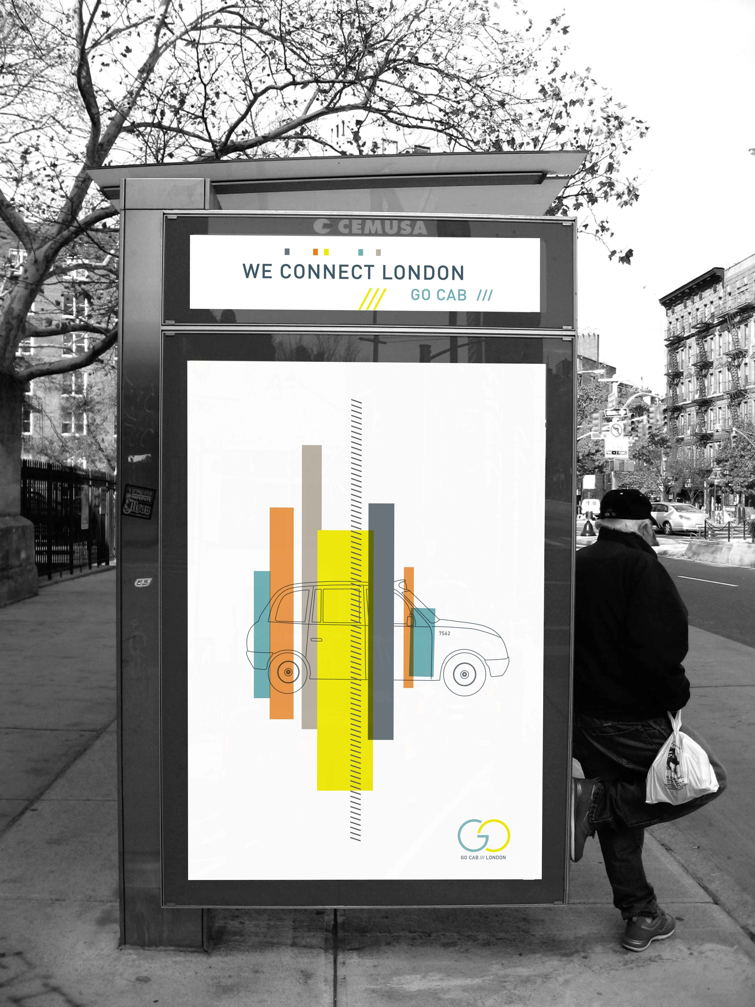 London Cab Bus Shelter Campaign