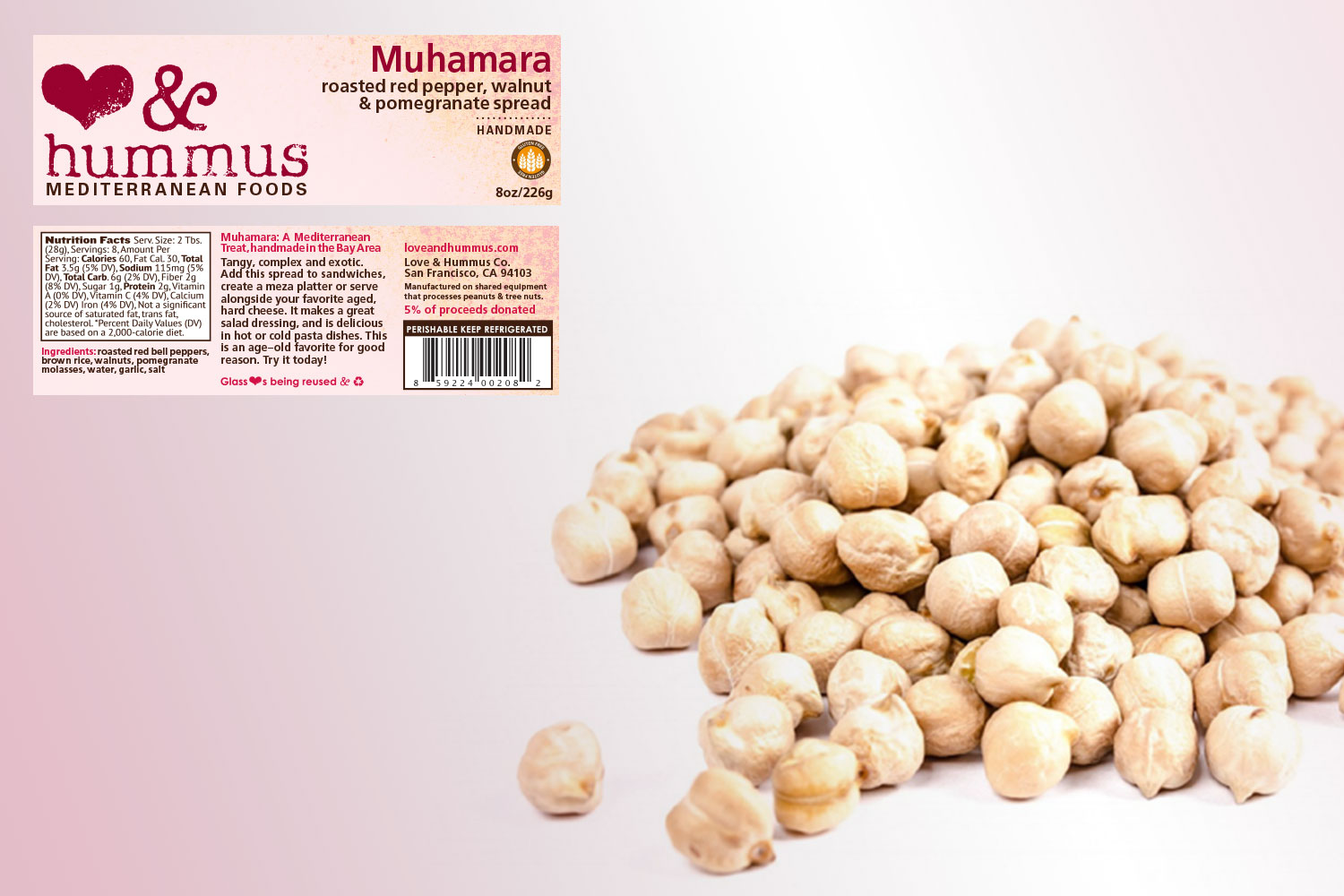 Copy of Hummus and Love Label