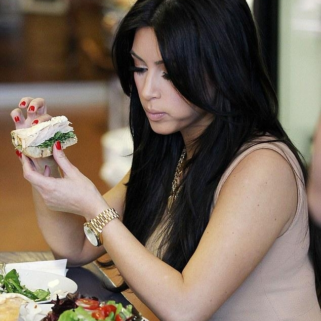 Kim enjoys her Roasted Turkey Breast Sandwich