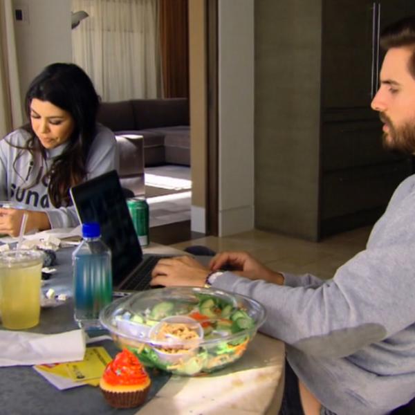 Kourtney and Scott on Keeping Up With the Kardashians