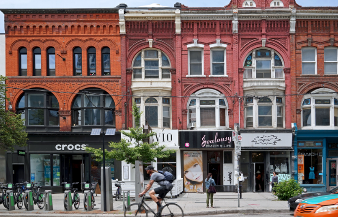 Queen West - Walking along Queen St and Roncesvalles, it's so easy to find nice boutiques and restaurants that you will love to hang out in. Why not live near it so you can casually walk along these streets?