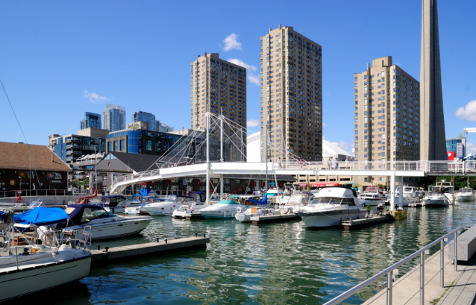 Harbour Front - You get to live downtown with a beautiful view of the lake. Take a stroll by the water in the summer and enjoy the mini escape from reality. You're also close to the subway and via rail, which is a huge plus!