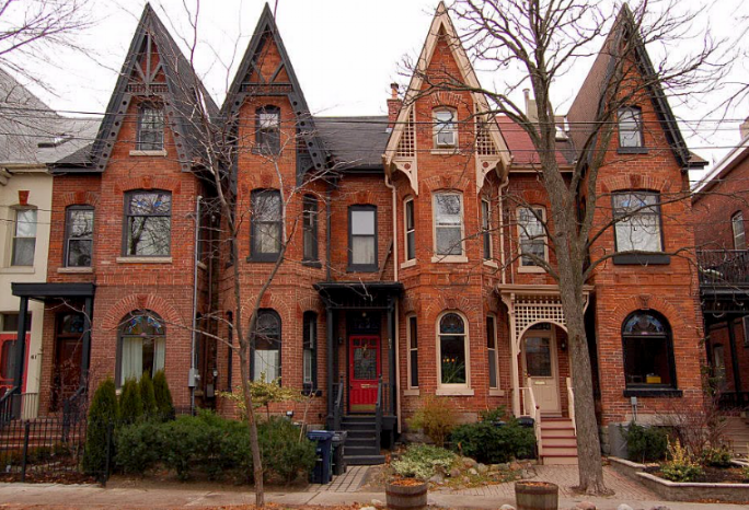 Cabbagetown - Featuring the largest continuous area of beautiful preserved semi-detached Victorian houses in all of North America. No big deal! With a farm on the east side, experience the farmer's market while living fairly close to downtown!