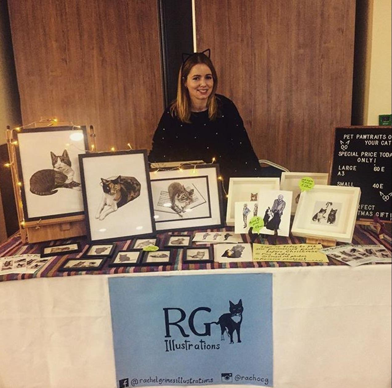 RG Illustrations at Dublin Cat Fair 2018