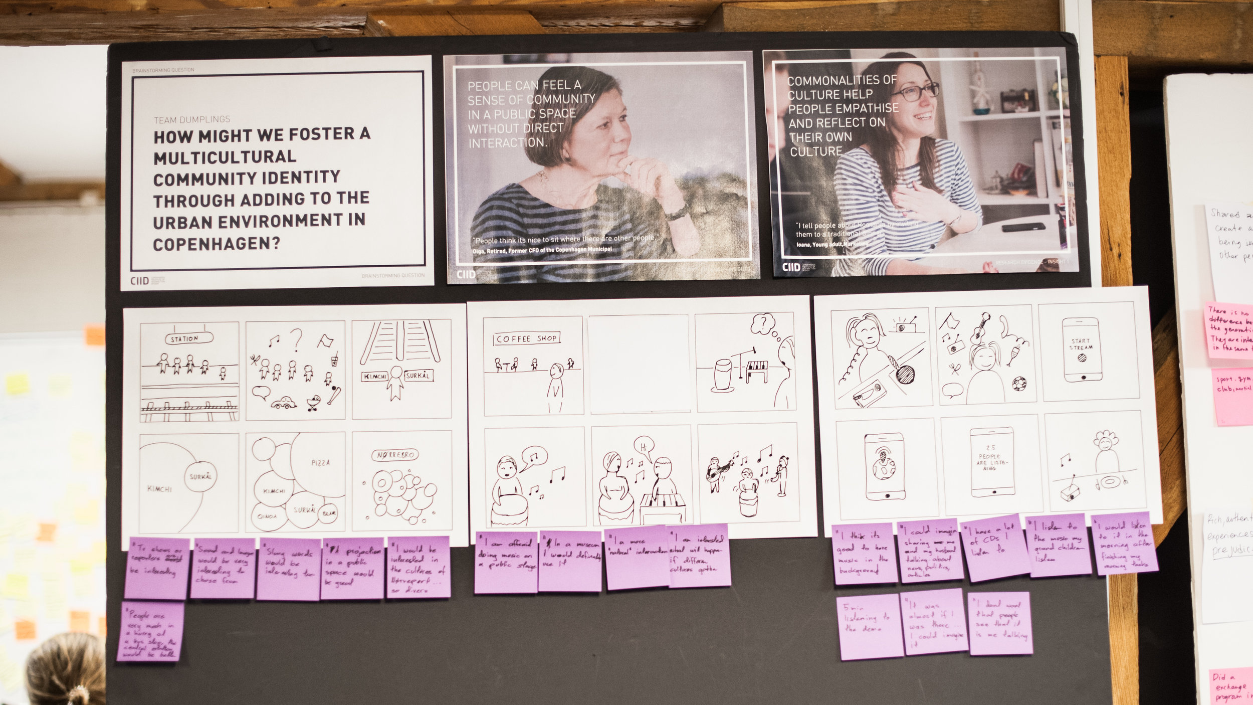 Our design insights from research led us to a more focused design challenge.After a co-creation session with an elderly social group, we had three core concepts.