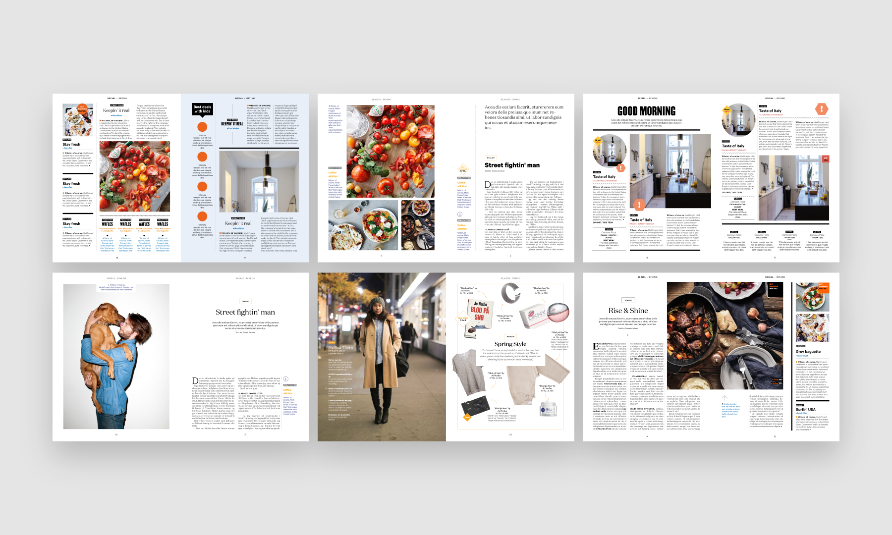 I led the design and was a part of developing the strategy for a new magazine for Oslo Airport.