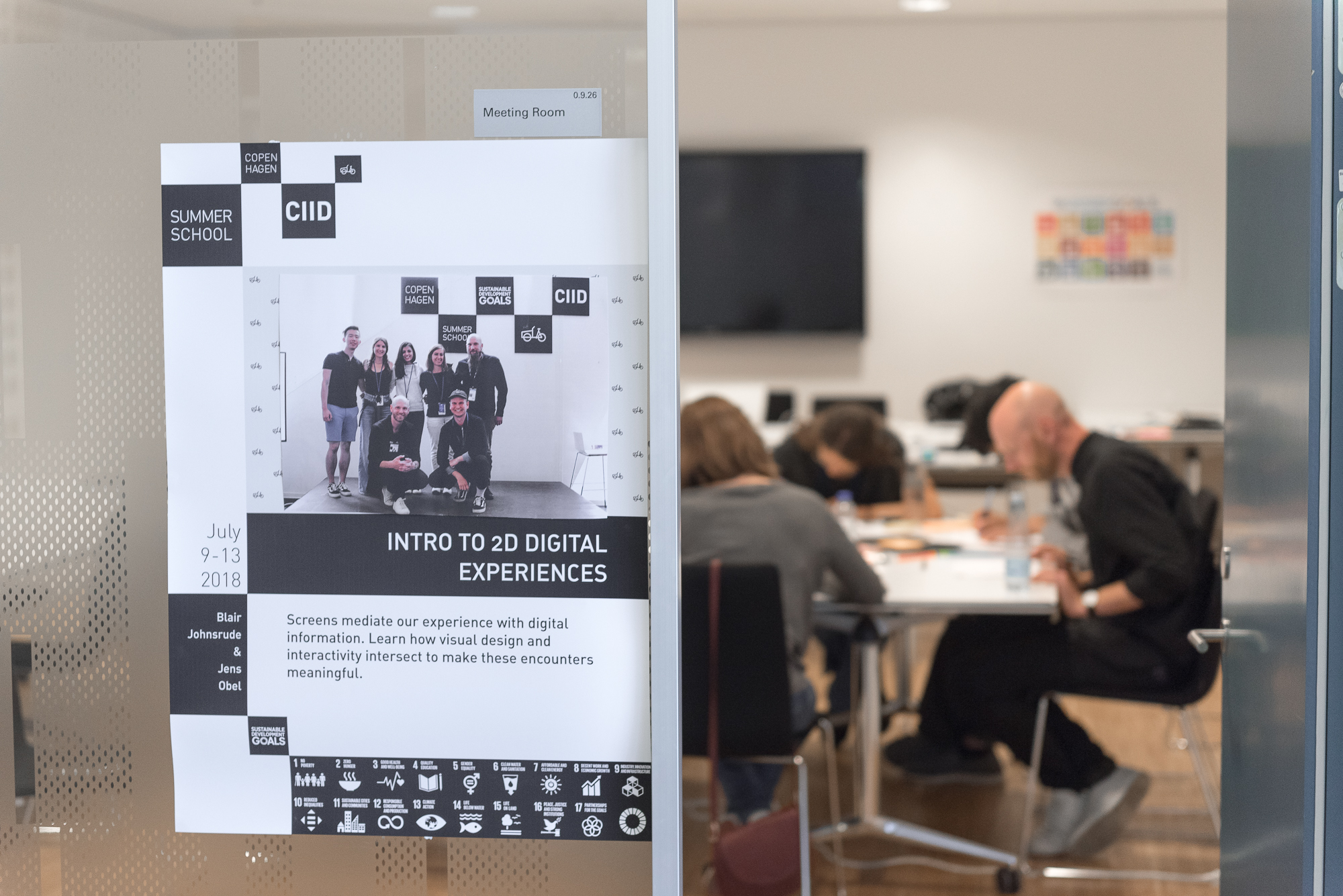 The workshop was called 'Intro to 2D Digital Experiences'