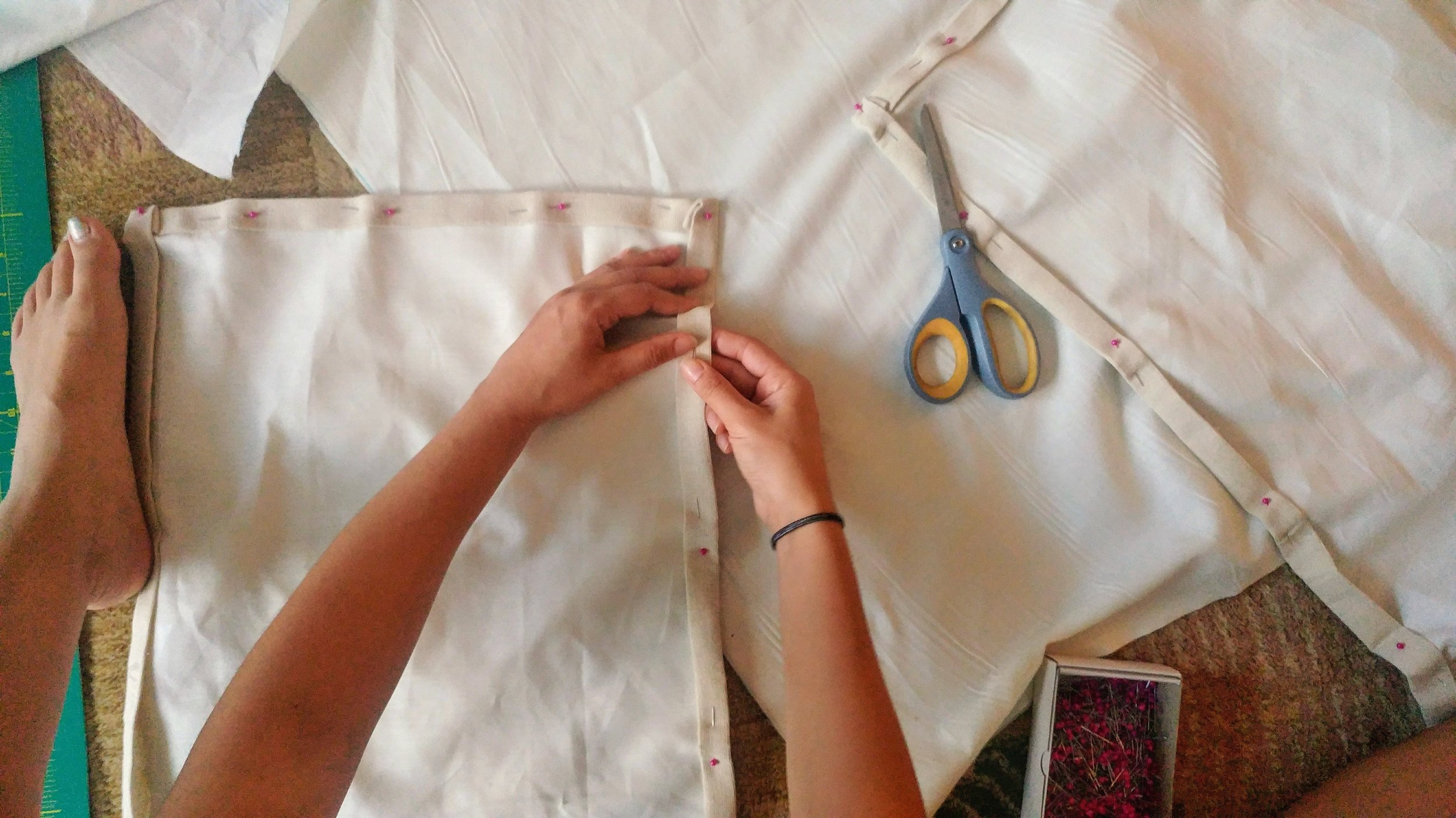 Custom Tiny Home Curtains Measuring