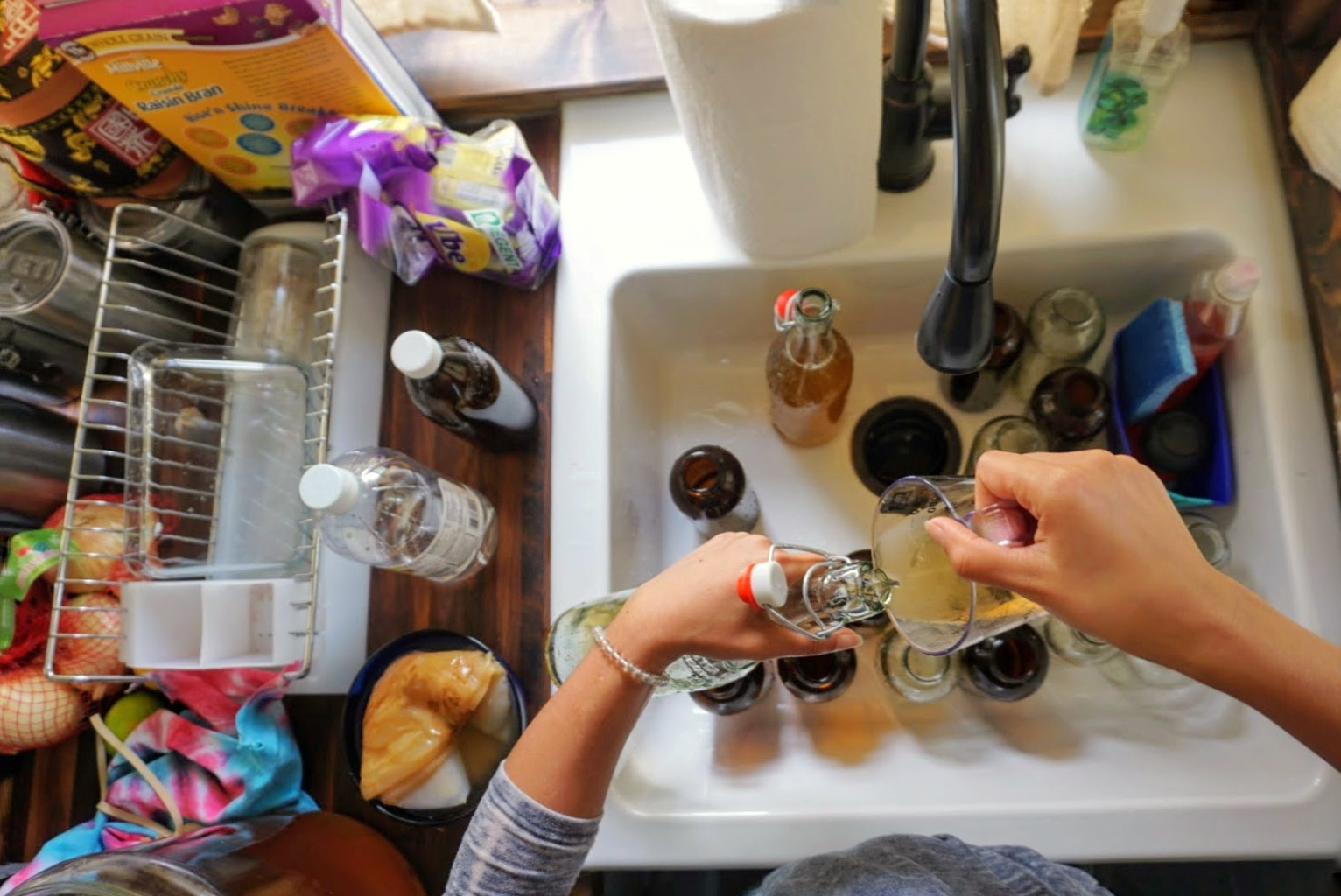 Tiny Home living Kombucha Brewing Scoby bottling homemade organic flavors fruit original