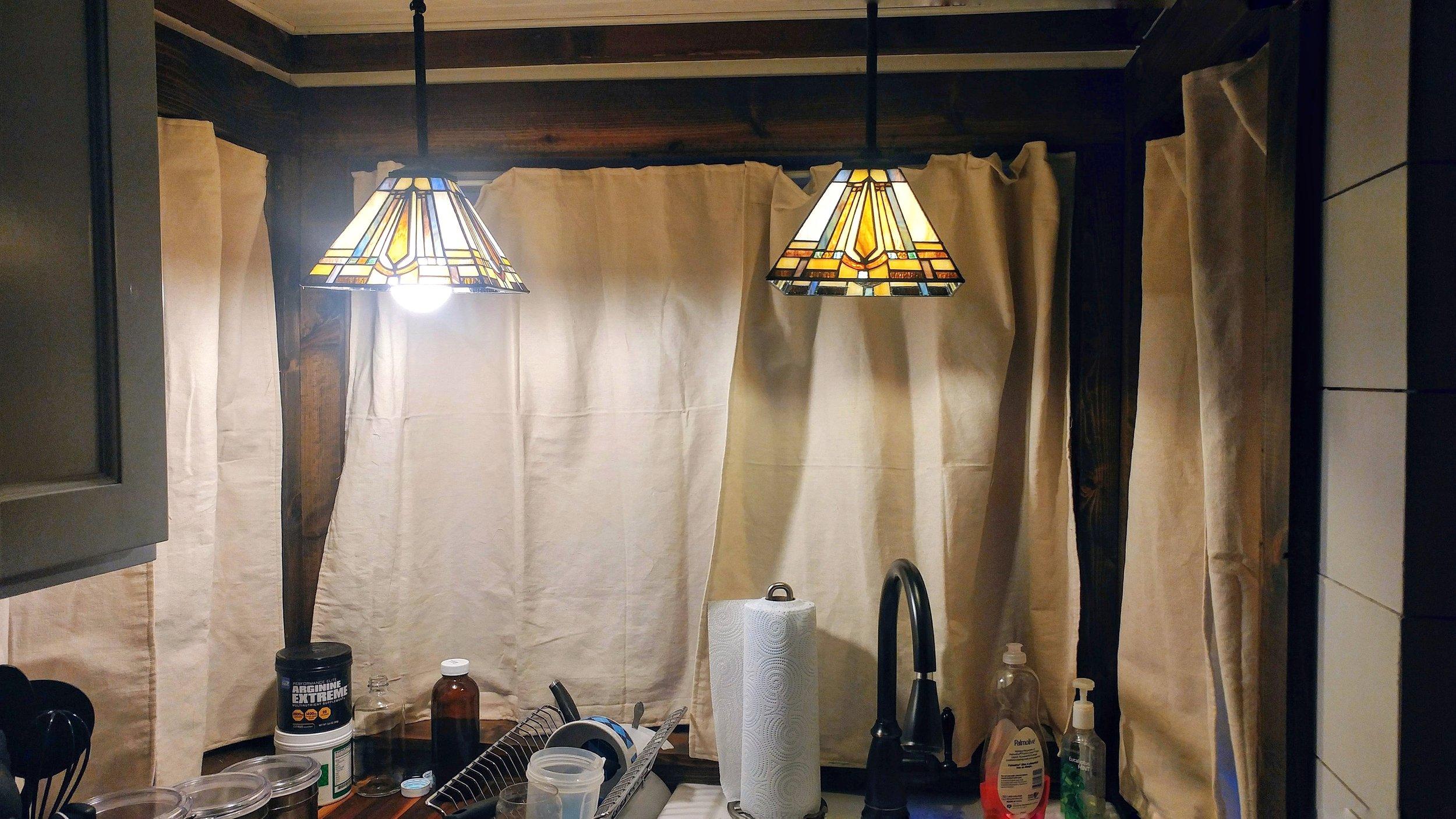 Tiny home Lighting LED bulb size lighting techniques kichen