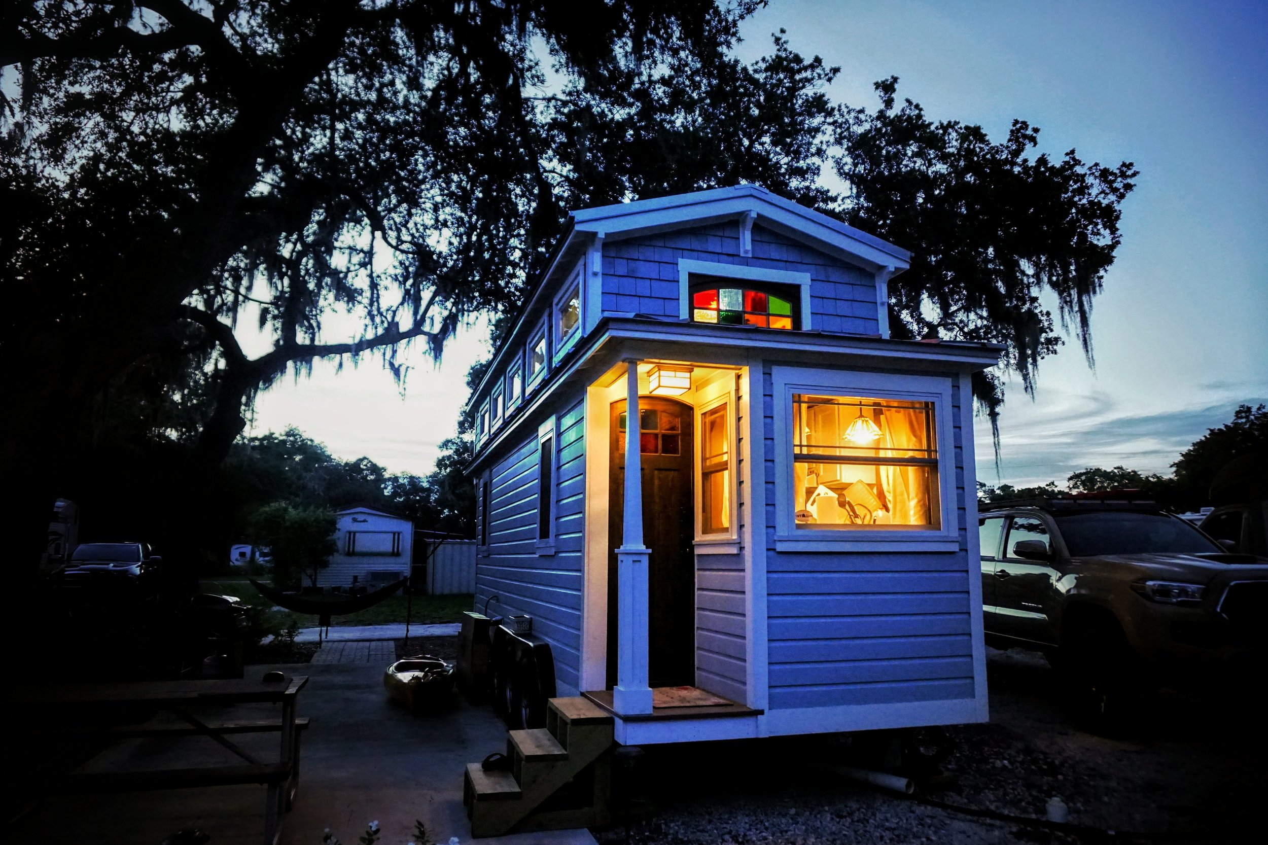 Tiny home living in an RV park