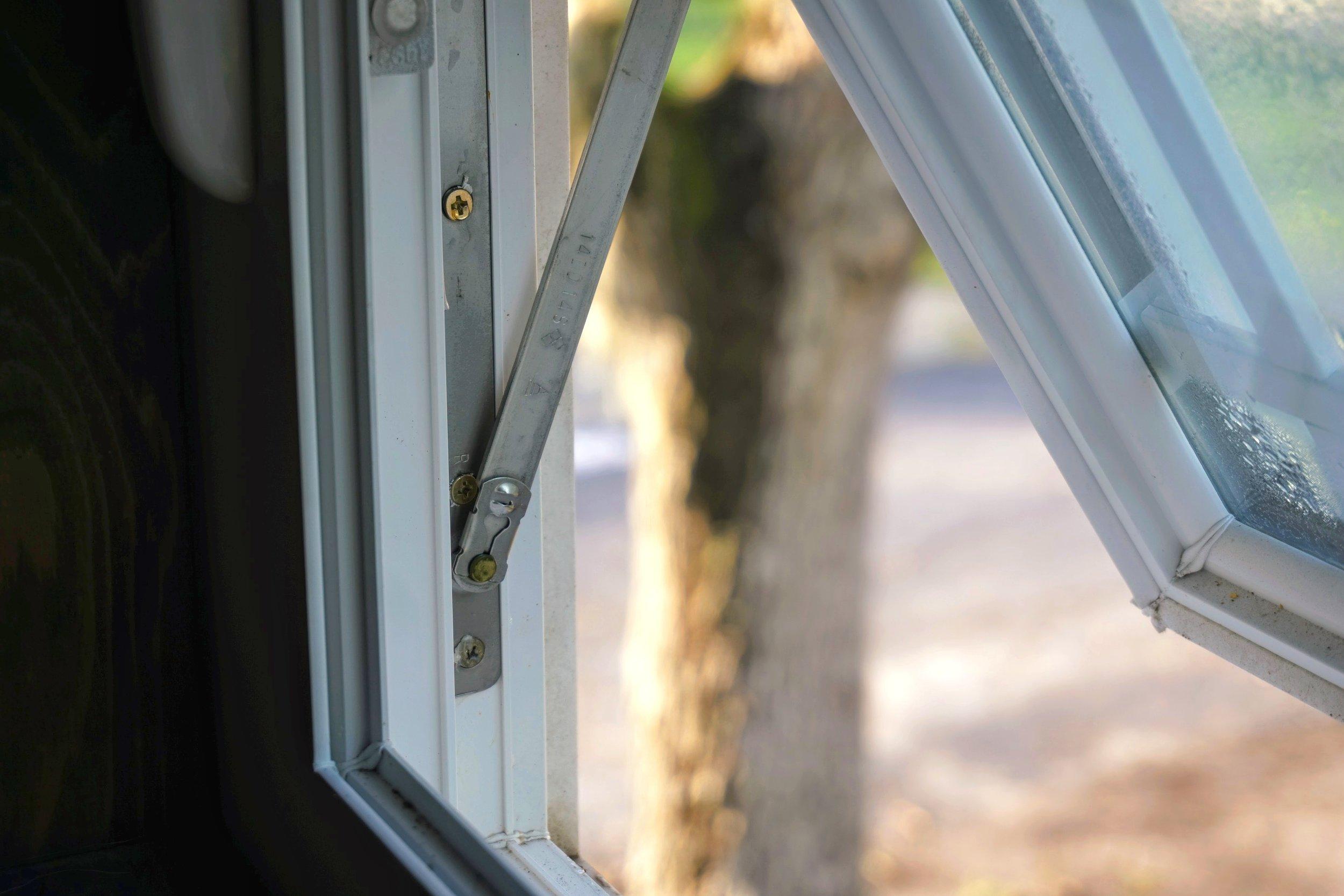 Tiny home living windows pop out