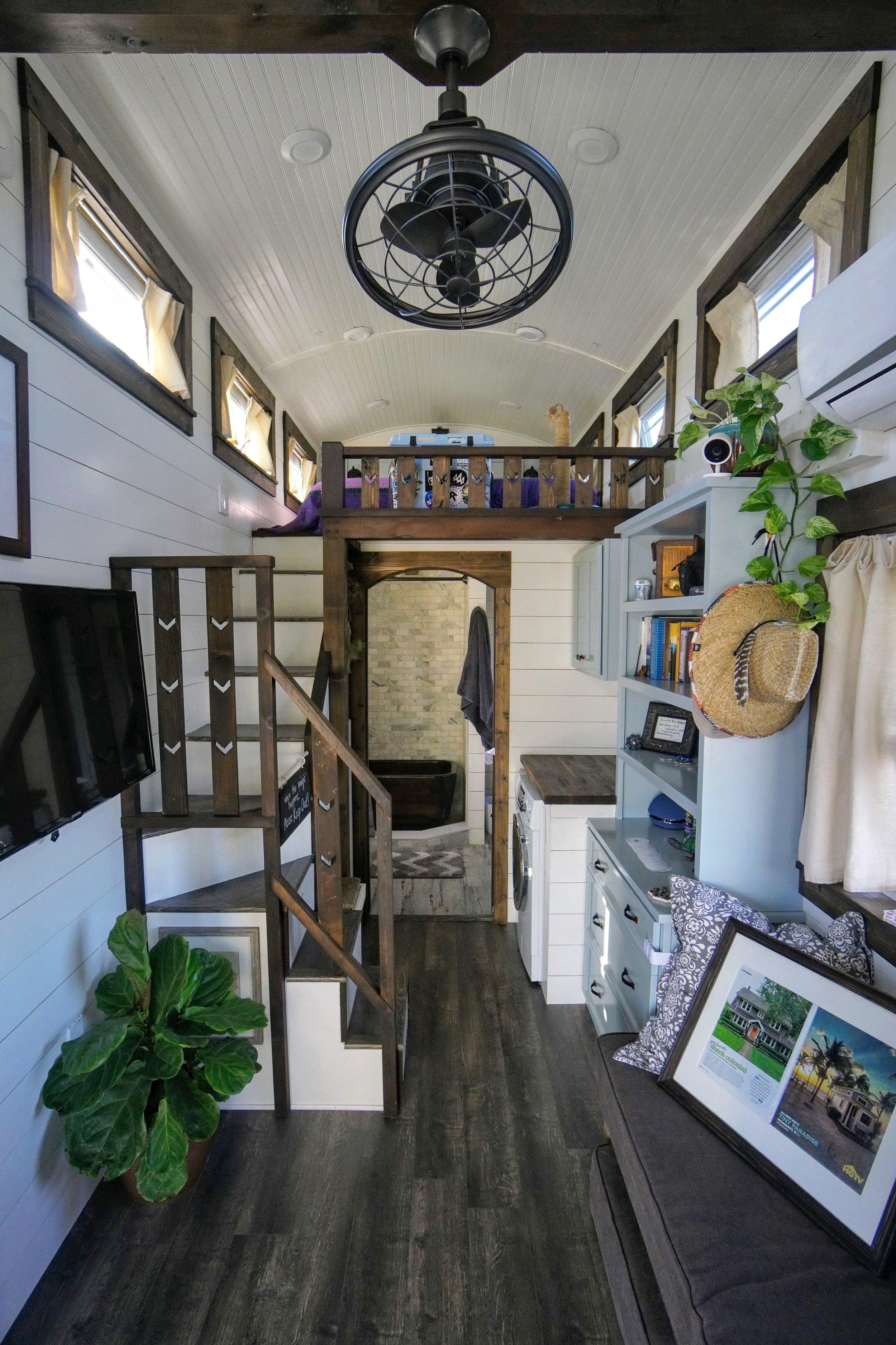 Moving a tiny home straps fridge child-lock cabinet bathroom sliding doors packing transportation