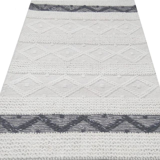 In stock! 5x7 and 9x12 Sizes available in this Wool handmade rug! Free shipping available!