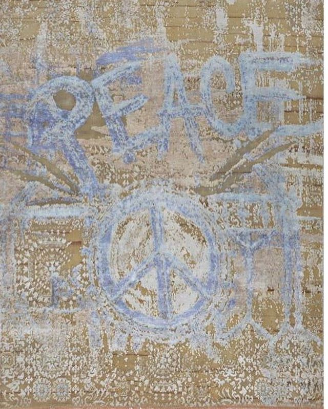☮️ Custom Couture Rugs wishing you a peaceful Tuesday #design #artistic #specialgift #positivevibesonly #luxuryhomes