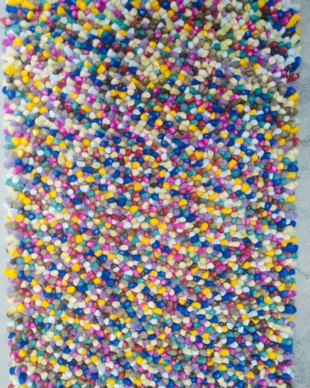 """Sprinkles""! Another custom rug for a festive children's room! #artsilk #wool #SOFT #SQUISHY  100% FUN!!! @customcouturerugs THE CUSTOM RUG WHOLESALER"