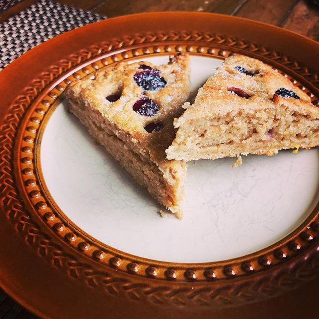 Homemade blueberry & Meyer lemon scones. Recipe coming soon!