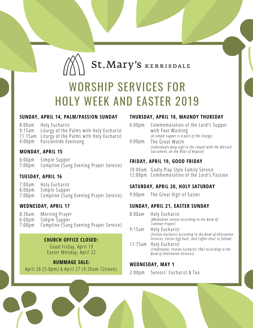 POSTER 8.5_11 Worship Services for Holy Week and Easter 2019 (1).png