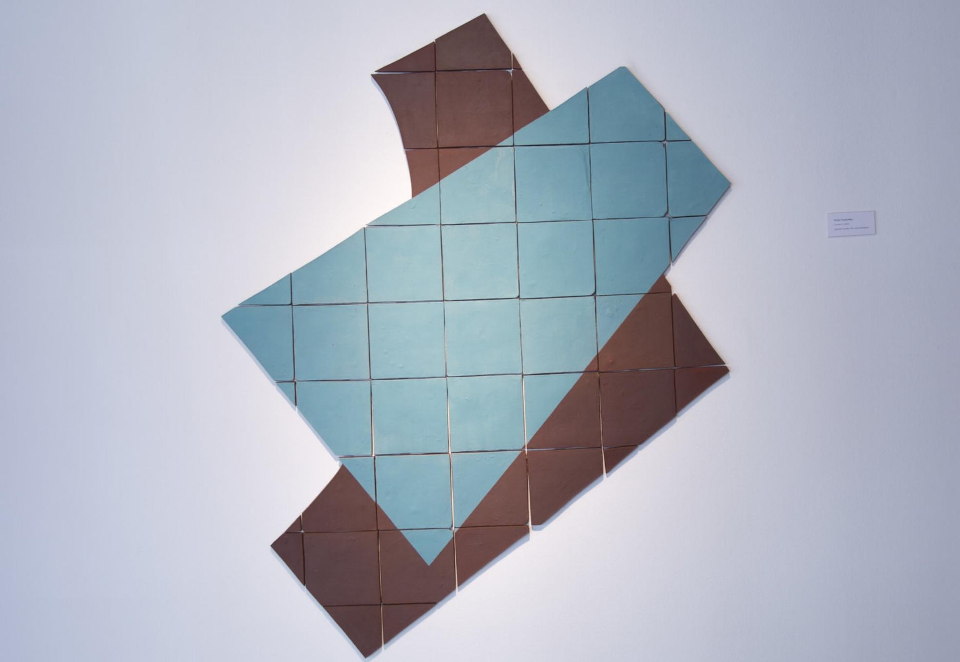 Modern Sculpture Tile Installation Emily VanderMey