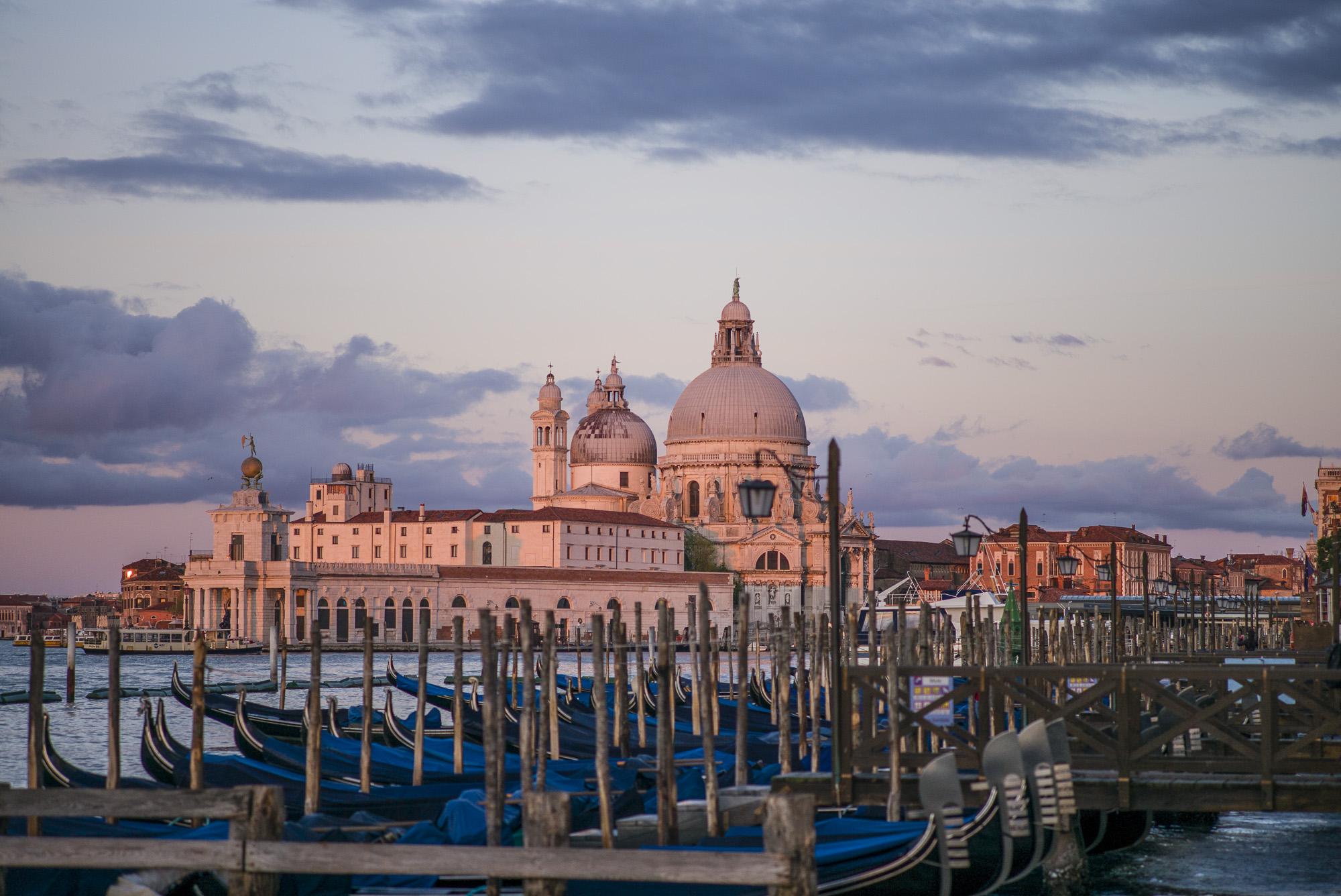 Gondolas and Santa Maria