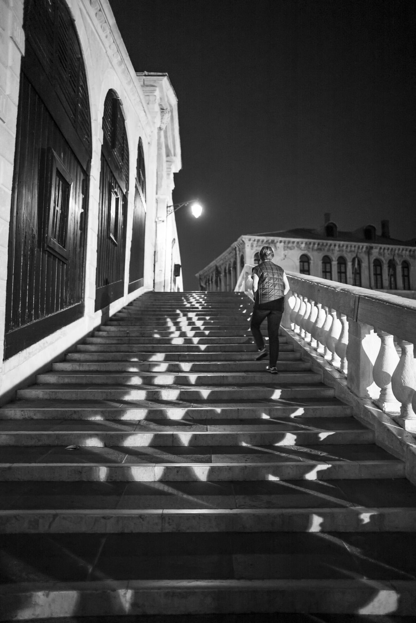 Steps of Rialto at night