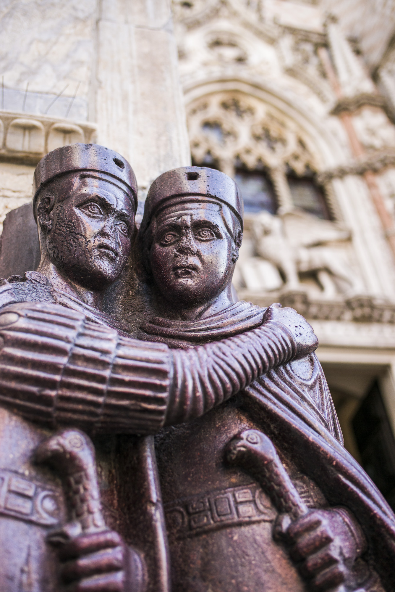 The  four tetrarchs . Stolen from Constantinople in the 4th Crusade