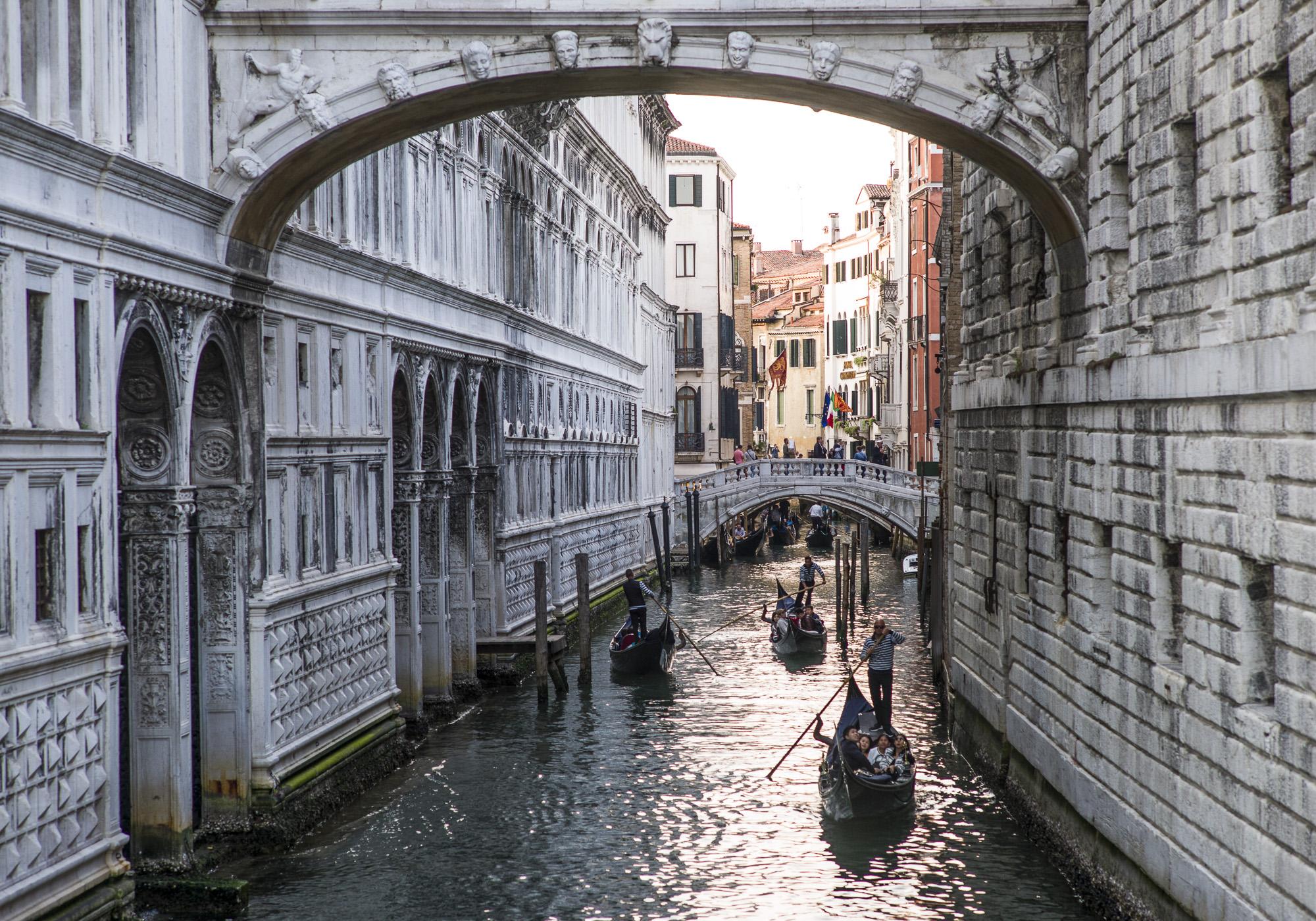 Gondolas on the Canal