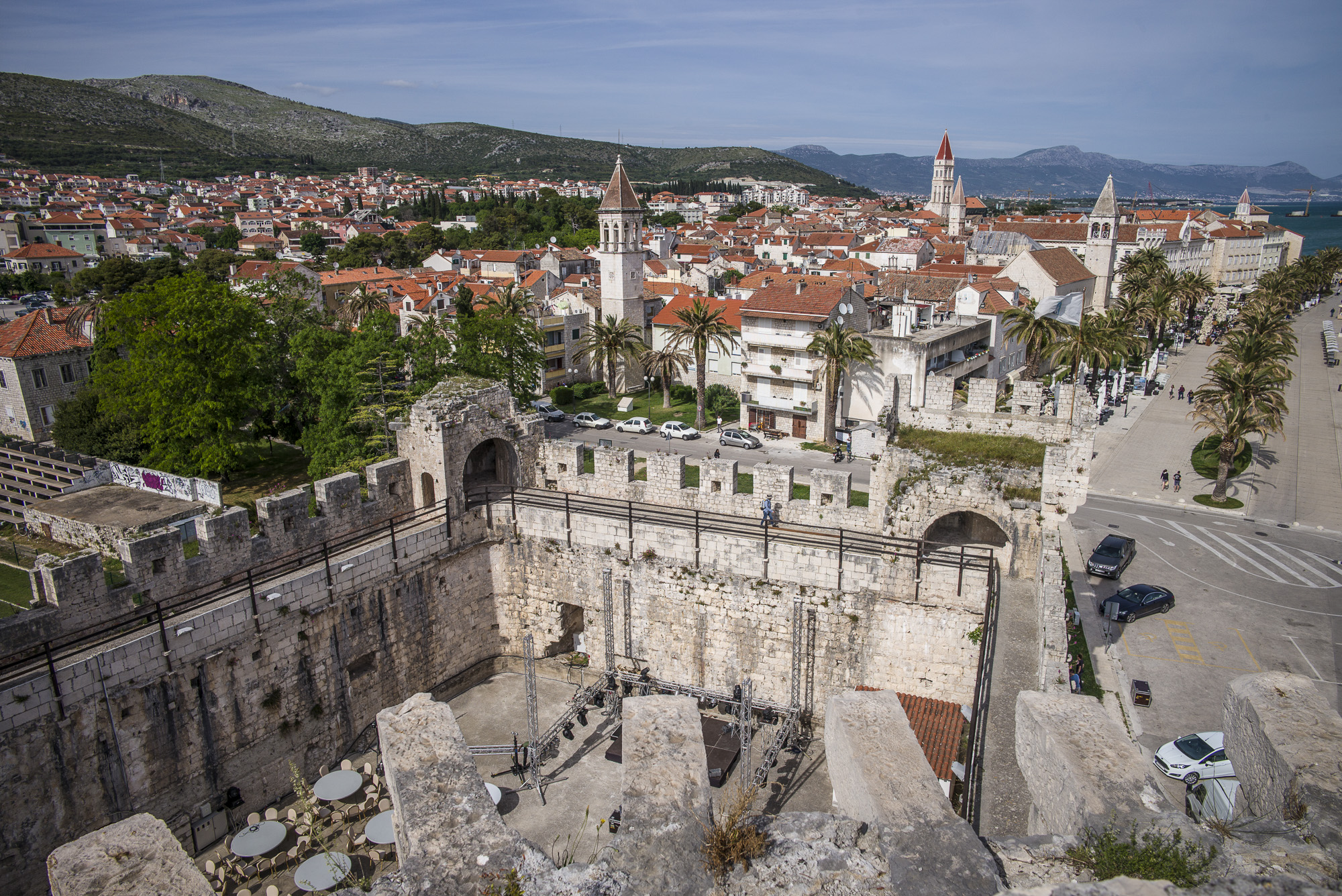 Trogir as seen from the fortified walls. What a great venue for a wedding!!
