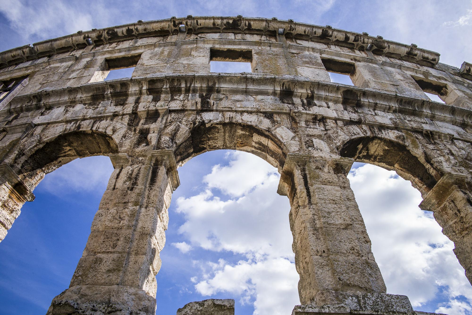 The Roman Colosseum in Pula