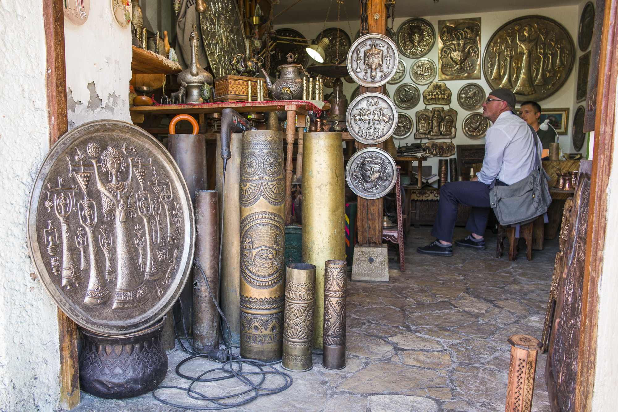 Mostar Art crafted with spent artillery shells