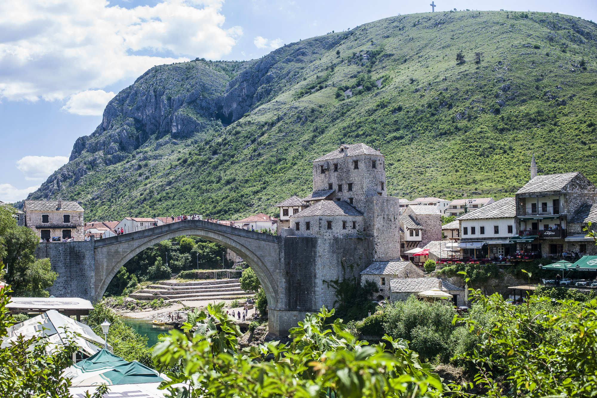 From the hill with the cross, the Croat forces shelled Mostar