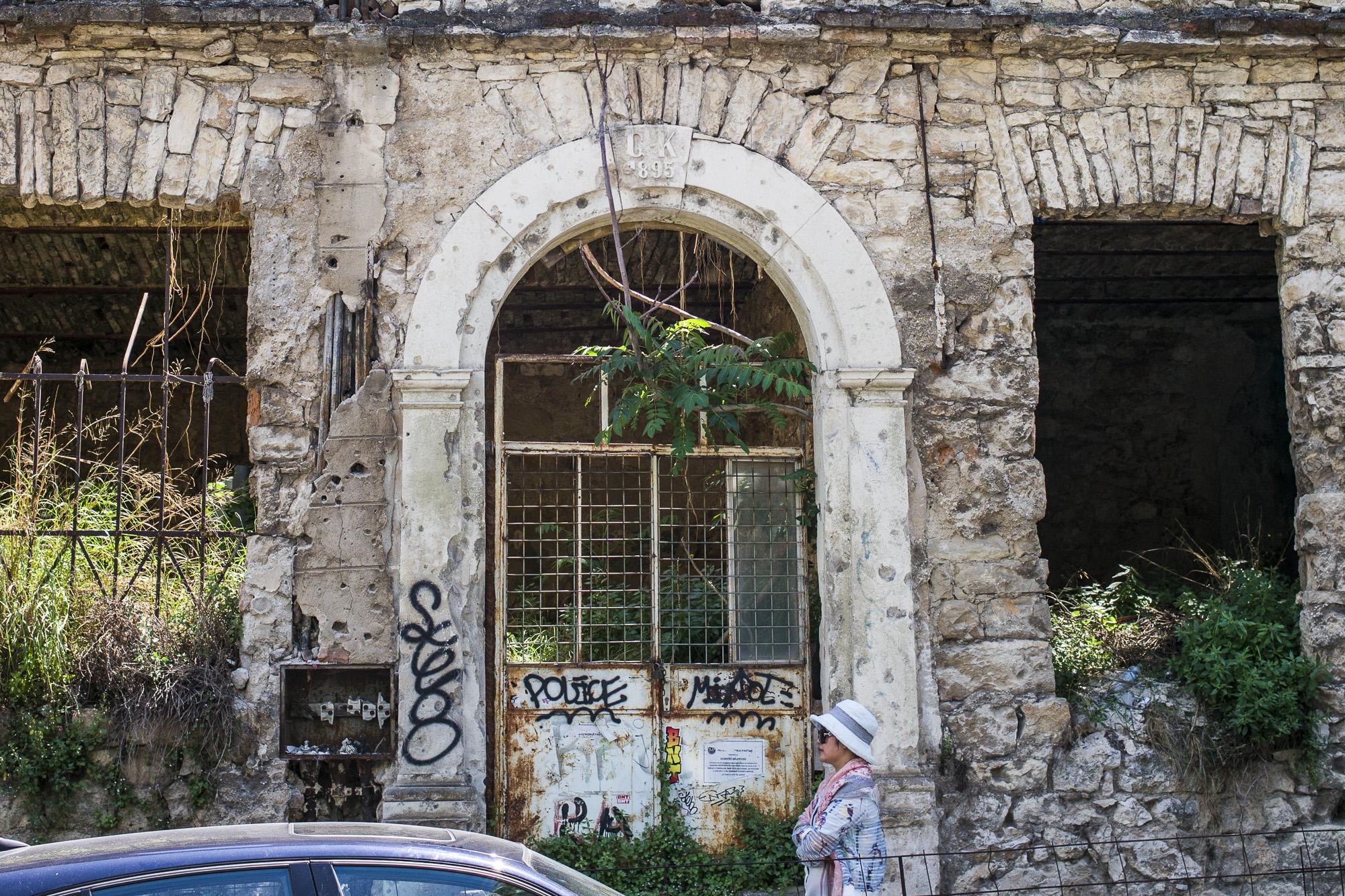 Tourist and Ruins