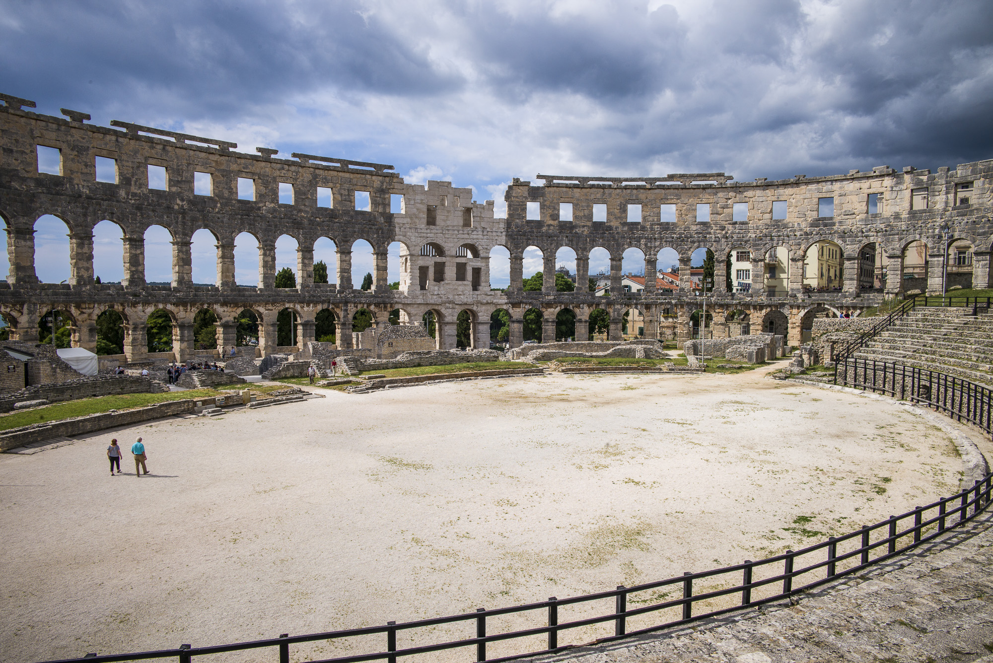 The gladiator area in Pula