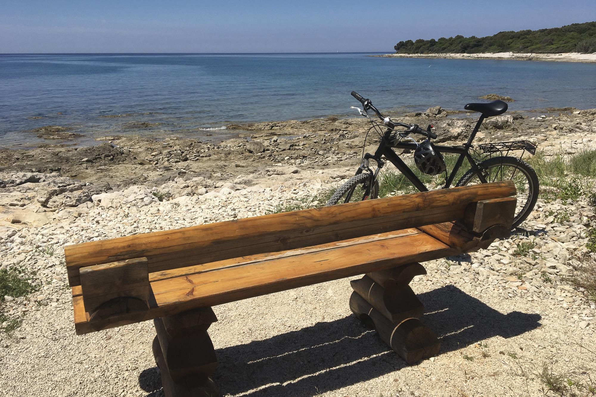 Bike stop on the Adriatic