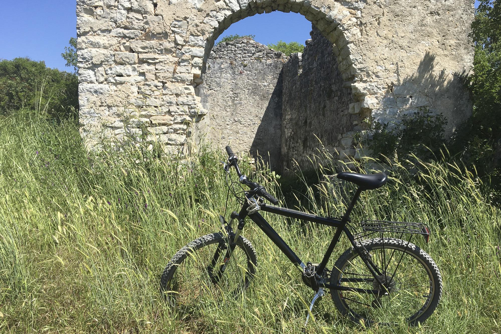 Biking through Istria