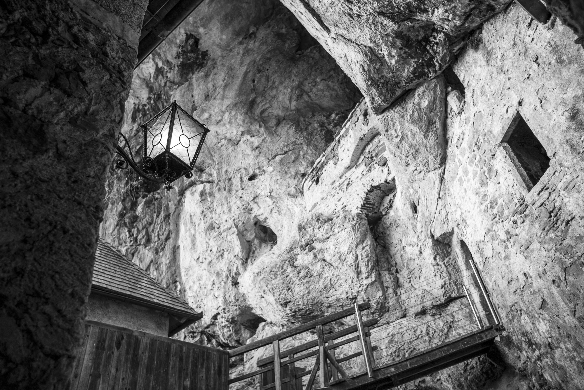 Inside Predjama Castle