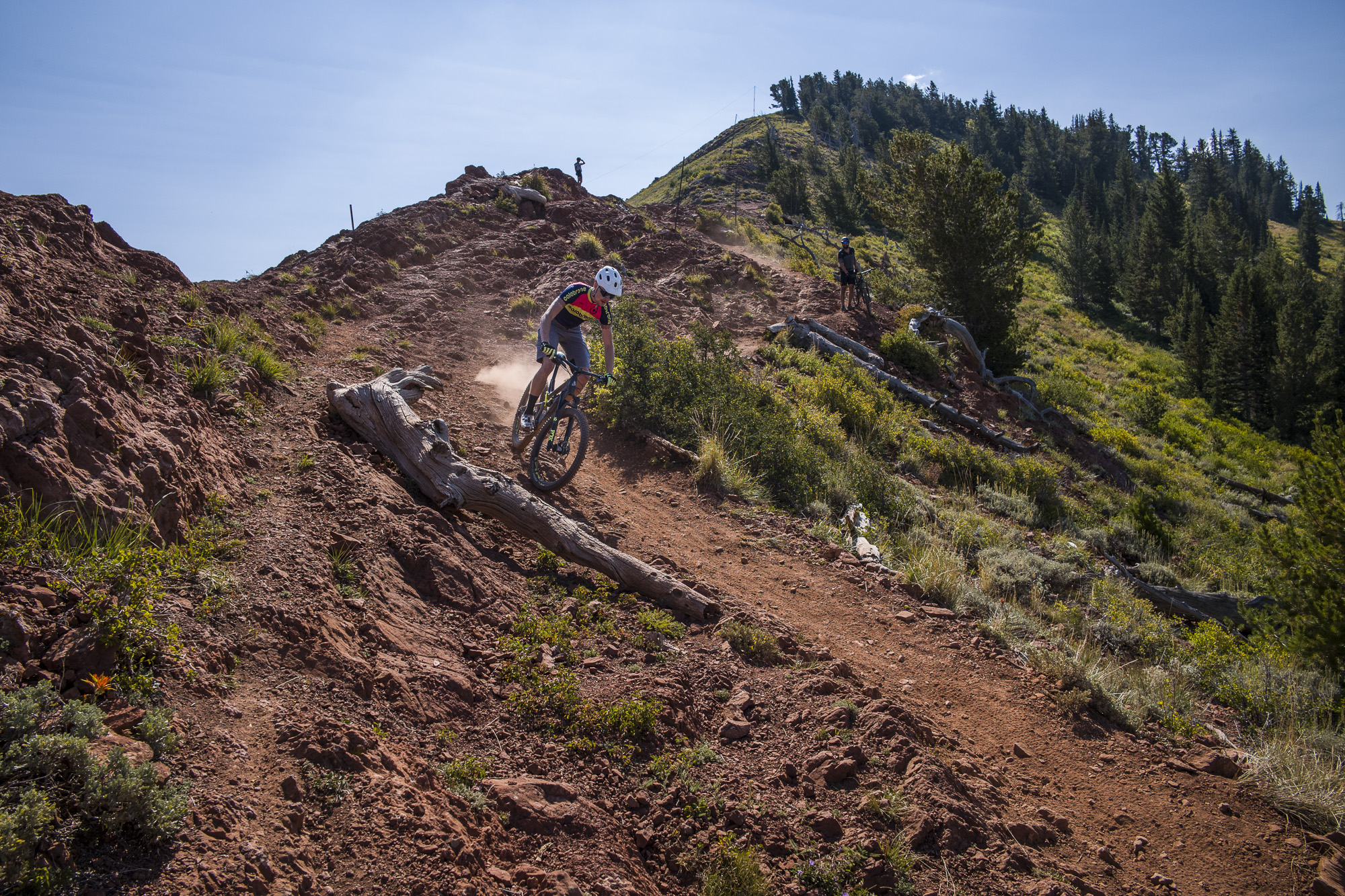 Miro riding the Crest Trail