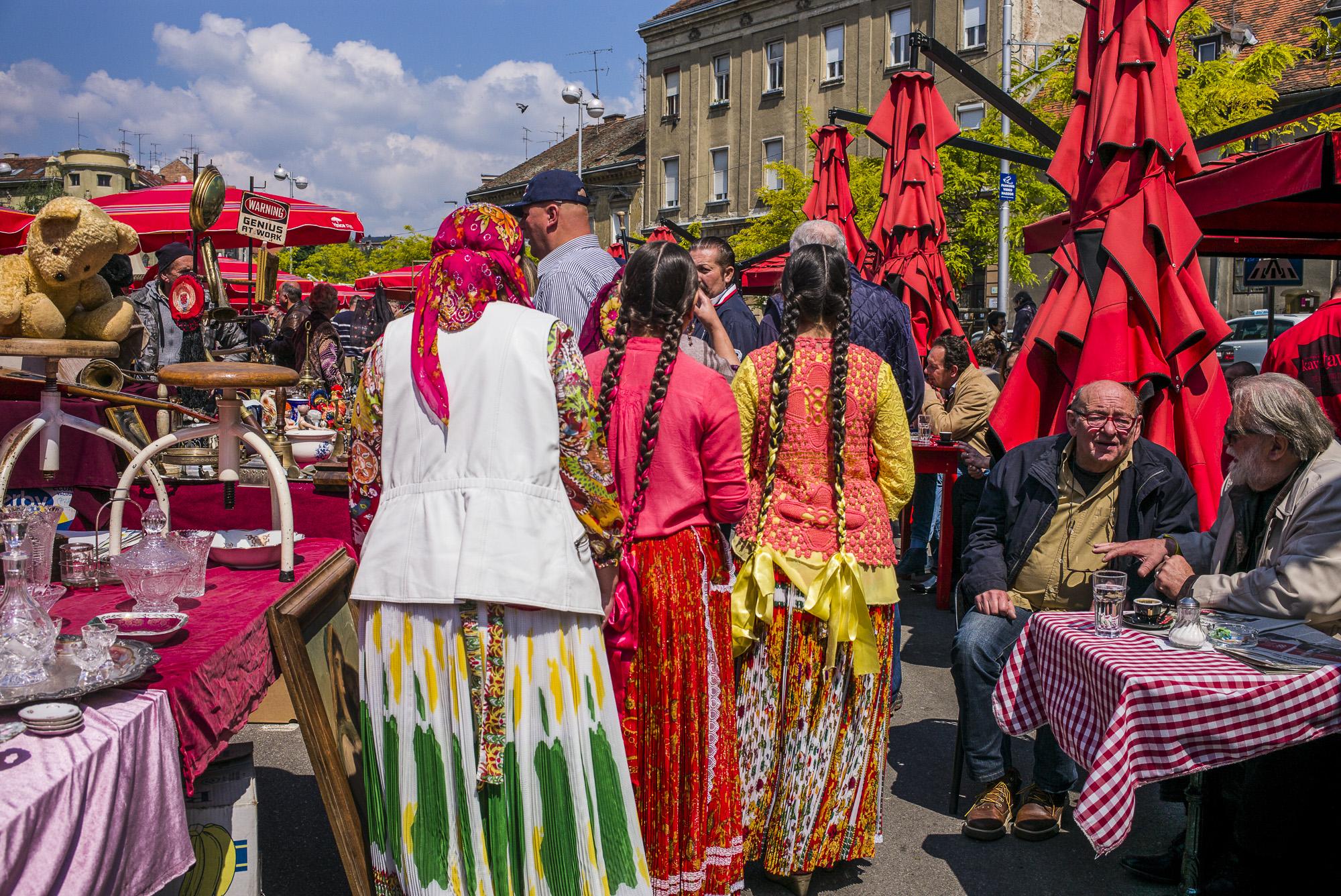Traditional Dressed Women on Sunday
