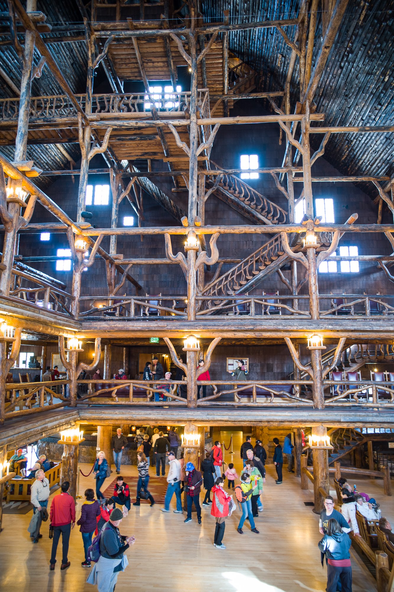 Do these rafters look like a railroad trestle?