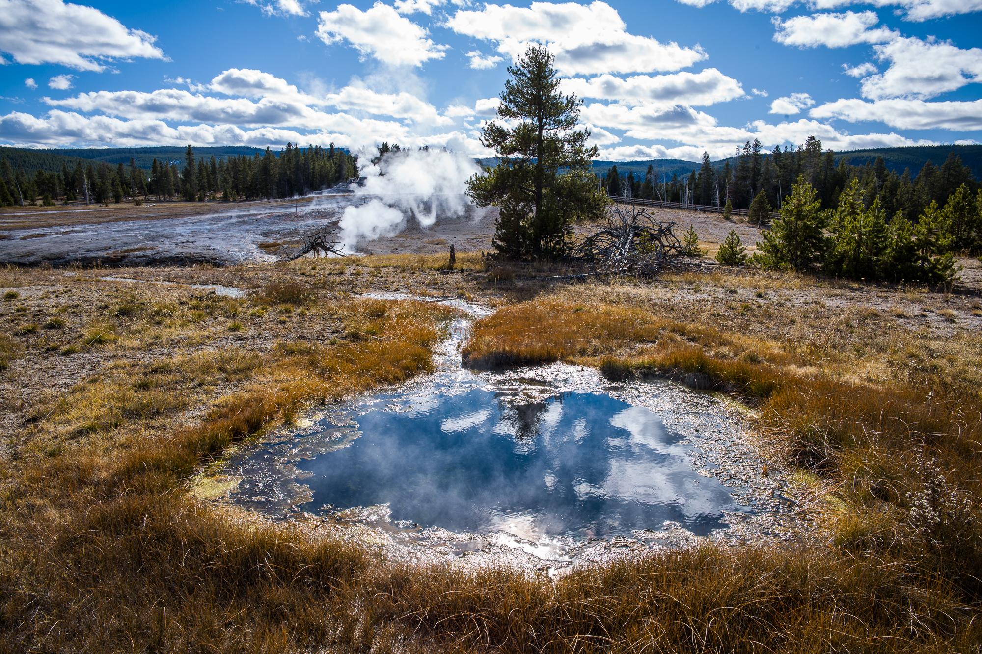 Reflecting Hot Spring ponds