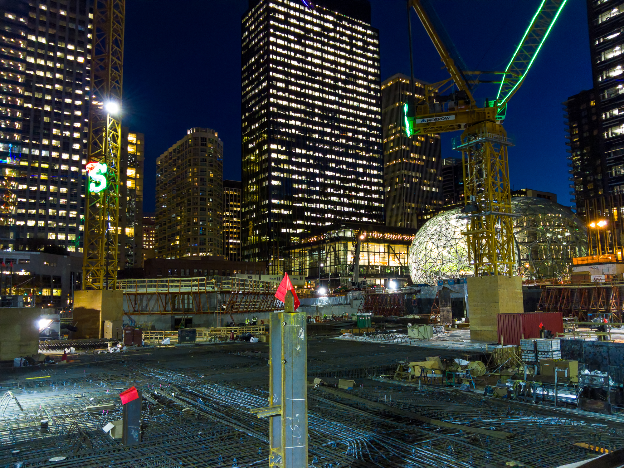 Construction Site in Seattle with the L16