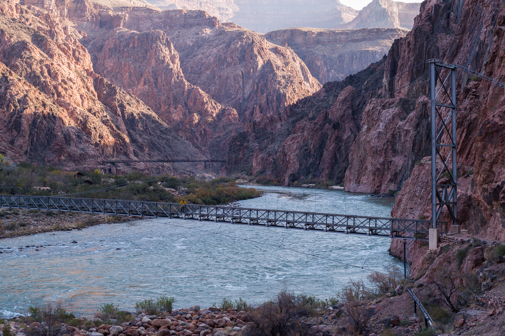 Looking back on the Silver Bridge, the Black Bridge and the Colorado
