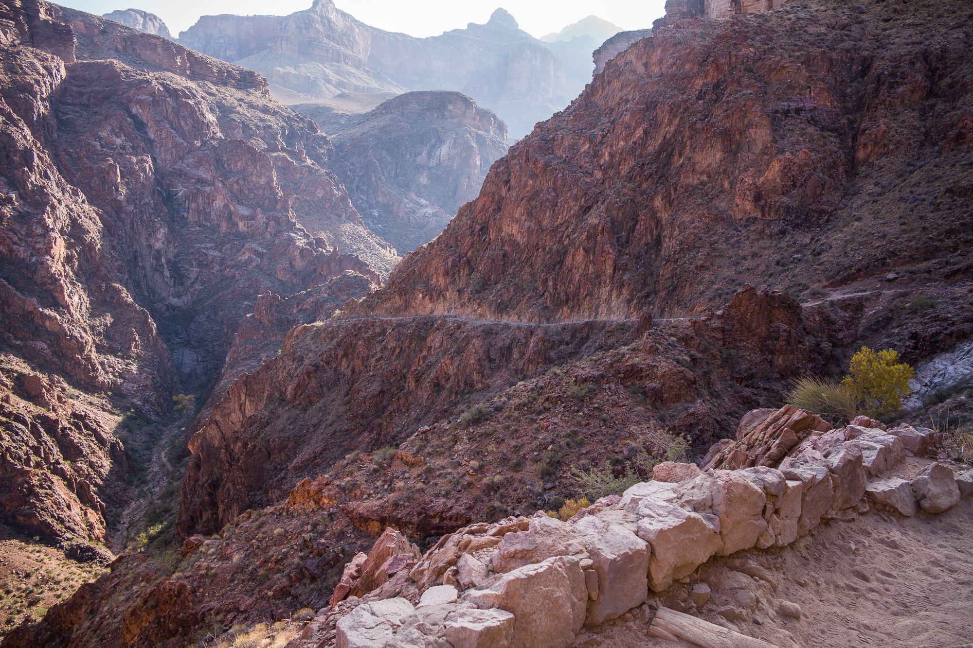 Looking back on the Bright Angel Trail