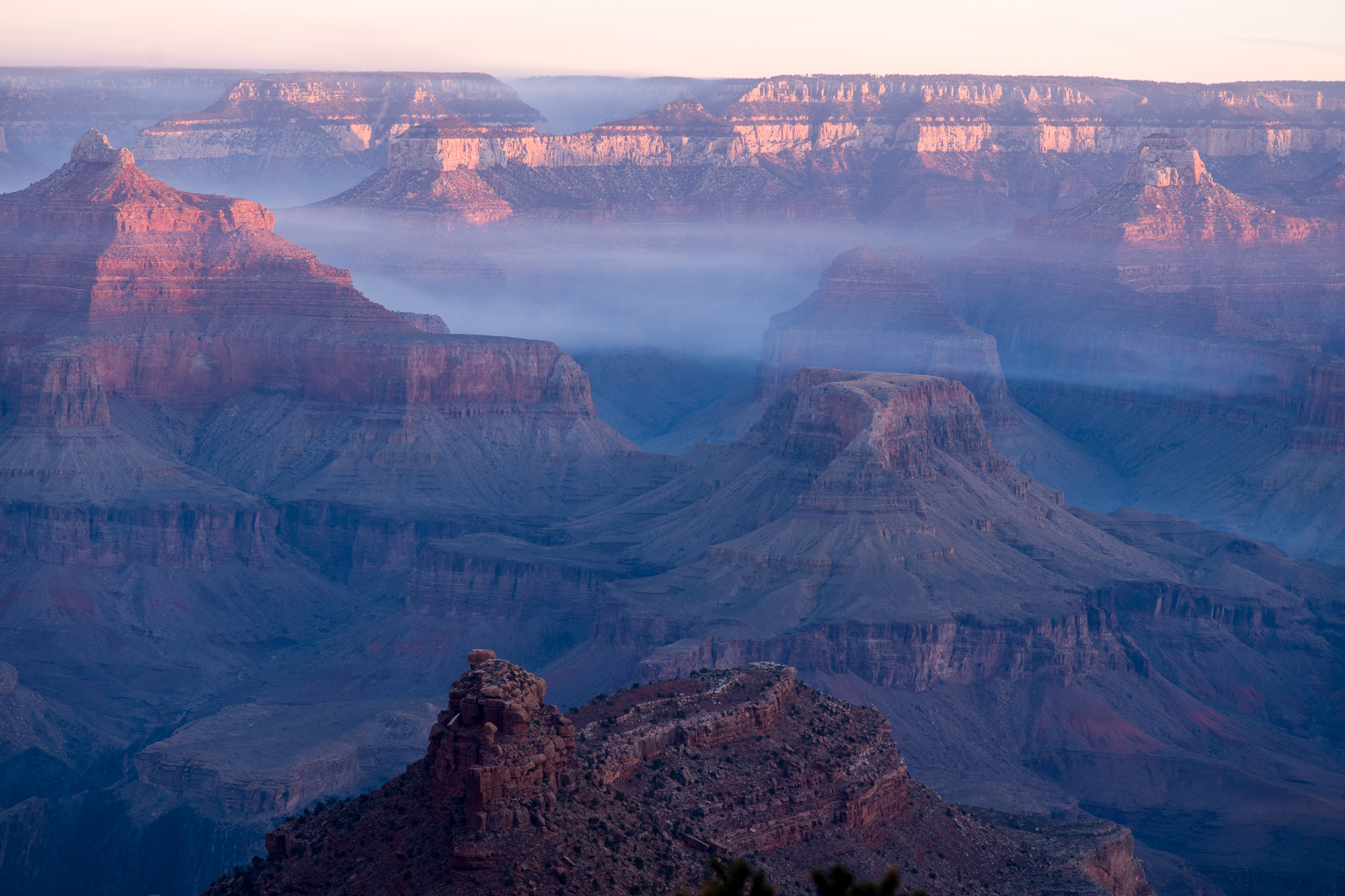 morning fog in the canyon