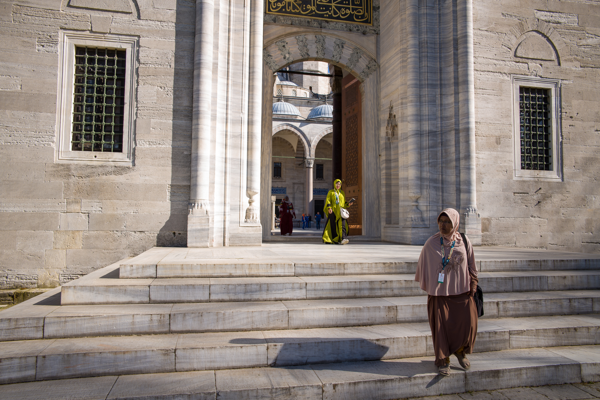 On the steps of Suleymaniye Mosque
