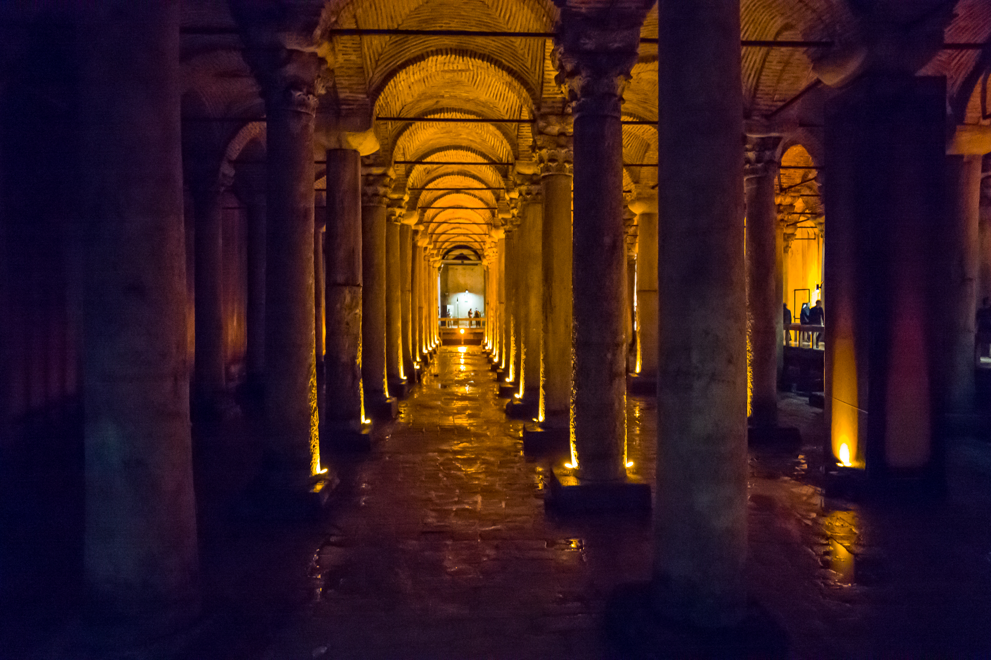 Bascilica Cistern built by Justinian in 530 AD