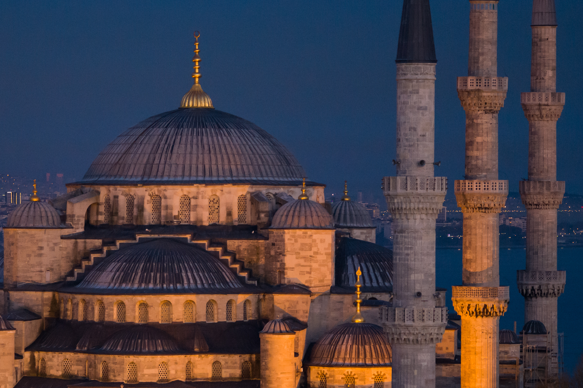 Domes and minarets of the Blue Mosque