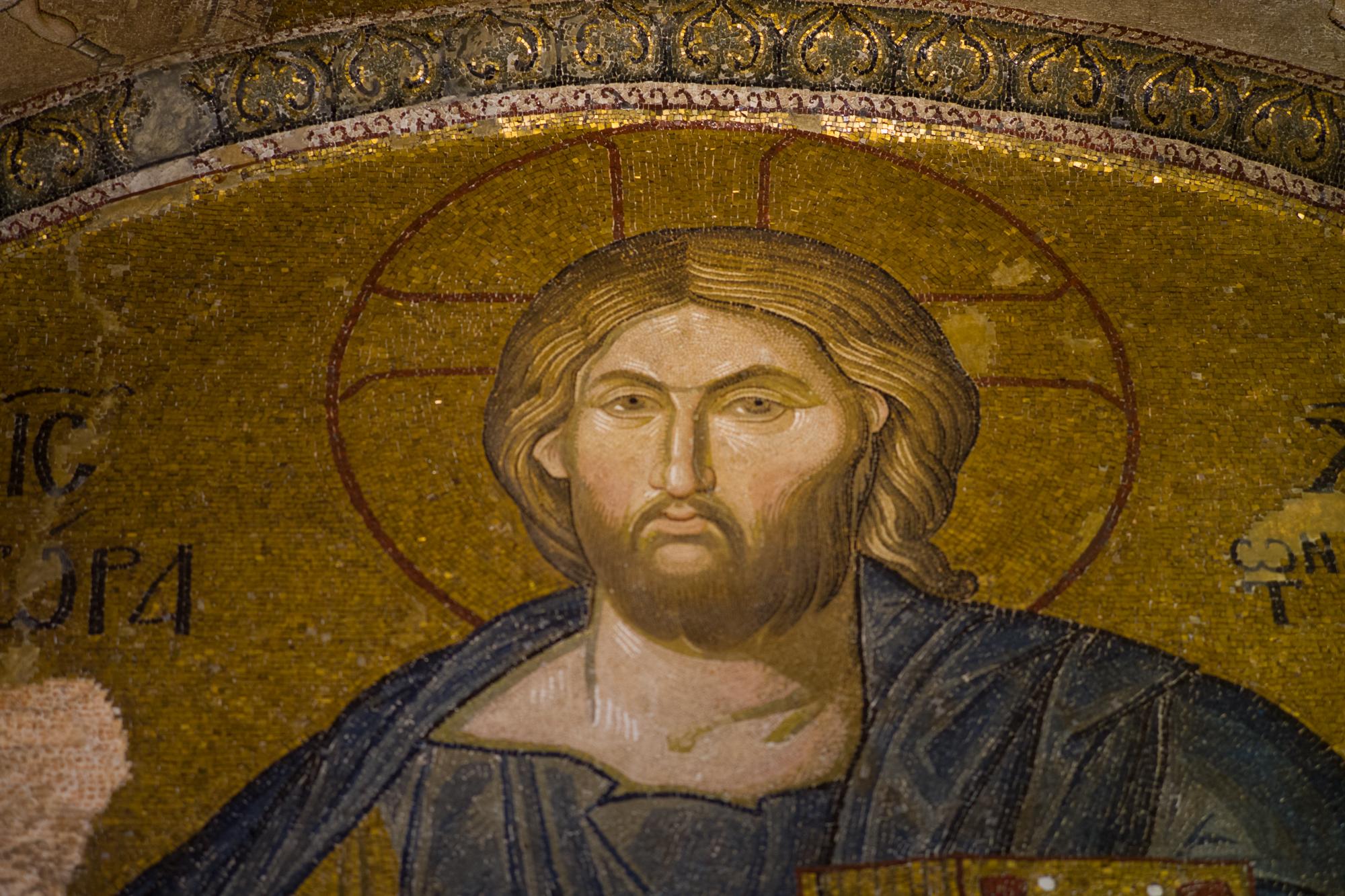 Mosaic of Jesus in the Chora Greek Orthodox church