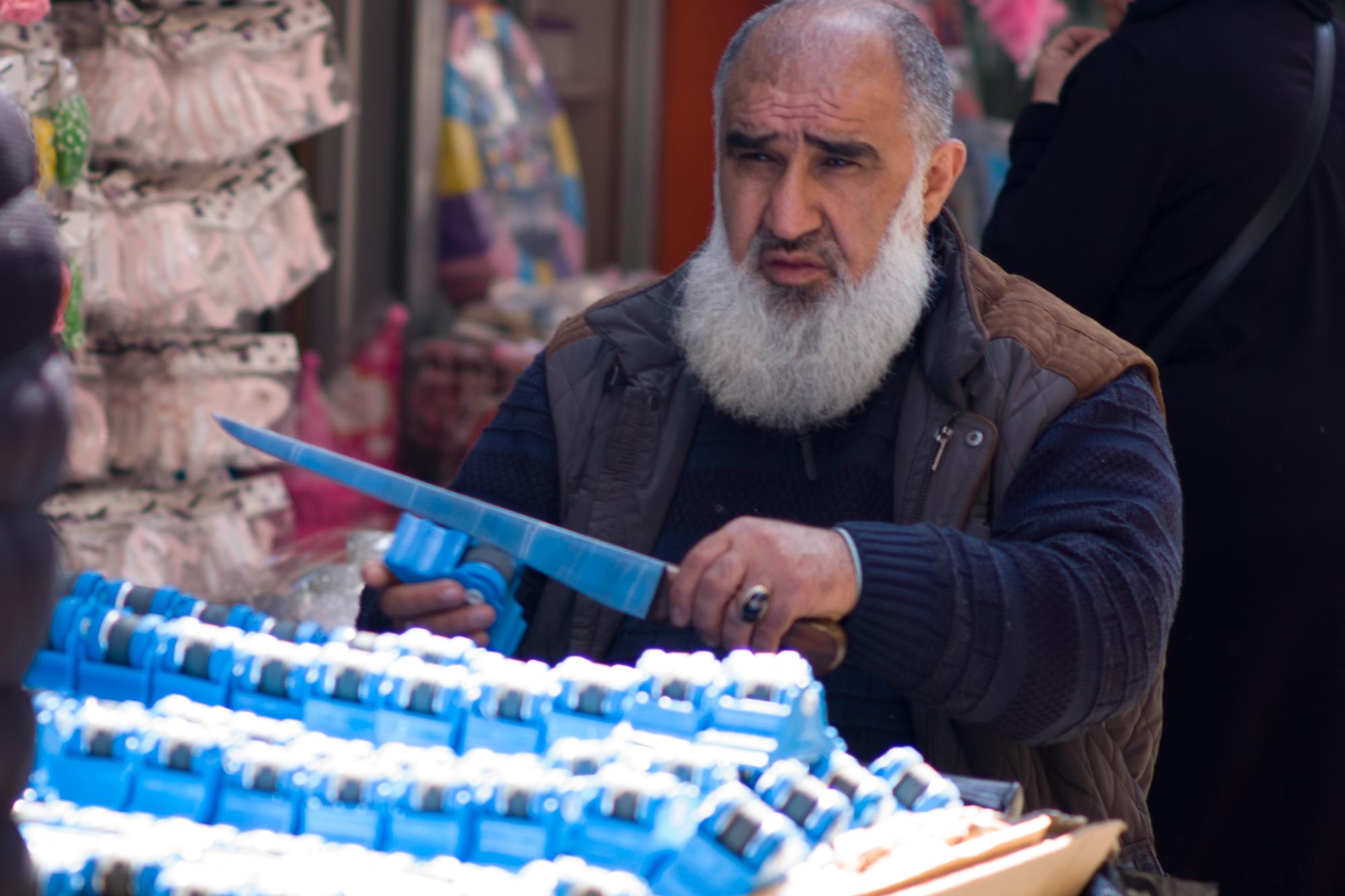 Sharpening stones in the Grand Bazaar
